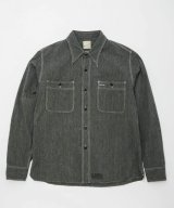 BELAFOTE/RT TRIPLE STITCH SH CHAMBRAY L/S  BLACK