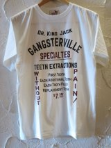 (SALE 30%OFF) GANGSTERVILLE(ギャングスタービル)/DR KING JACK S/S T  WITE