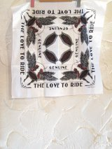 GANGSTERVILLE(ギャングスタービル)/LOVE TO RIDE BANDANA  WHITE