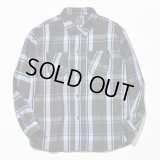 RATS/COTTON CHECK SHIRTS  BLUE
