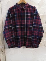 (再入荷) SUPERIOR EL/TARTAN CHECK BIG SHIRT  BLACKxRED