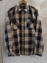 (再入荷) VINTAGE EL/HEAVY NELL CHECK WORK SHIRTS  BEIGE