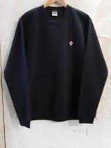 BELIVE/LEFT CHEST PATCH SWEAT  MUSHROOM  BLACK