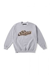 (SALE 25%OFF) BILL BOARD/CREWNECK SWEAT SHIRTS PEANUTS  GRAY