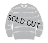 FTC/STRIPE CREW NECK  BLACK