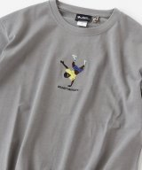 GYMMASTER/EMBROIDERY T  GRAY