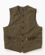BELAFOTE/RT ALPACA CANVAS VEST  HUNTERGREEN