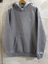 BELIVE/LEFT CHEST PATCH HOODIE TRICERATOPS GRAY