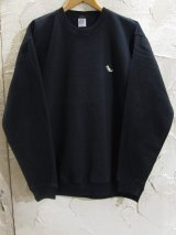 (再入荷) BELIVE/LEFT CHEST PATCH SWEAT  TYRAWNOSAURUS BLACK