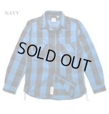HOUSTON/BLOCK CHECK VIYELLA SHIRTS  NAVY