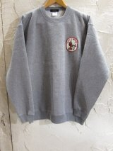 BELIVE/LEFT CHEST PATCH SWEAT WINNER  GRAY