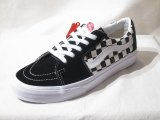 VANS/SK8 LOW  BLACKxCHECKERBOARD