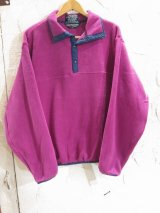 (DEAD STOCK) SPORTS MASTER/PORLARTEC FLEECE PULLOVER  MAGENTA