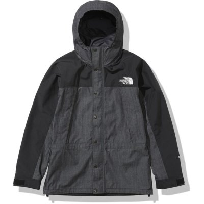 画像1: THE NORTH FACE/MOUNTAIN LIGHT DENIM JACKET NYLON BLACK DENIM