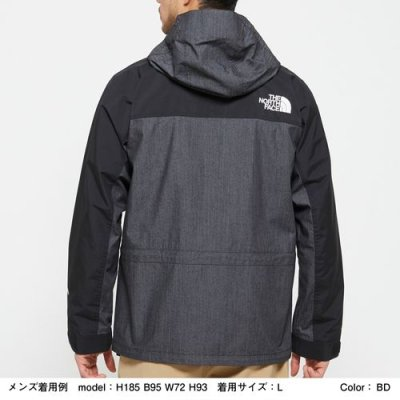 画像2: THE NORTH FACE/MOUNTAIN LIGHT DENIM JACKET NYLON BLACK DENIM
