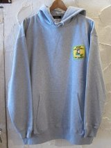 BELIVE/LEFT CHEST PATCH LIGHT HOODIE POLLUTION  GRAY