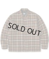 FTC/QUILTED LINED PLAID NELL SHIRT  BROWN