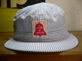 (SALE 30%OFF)COREFIGHTER/HICKORY STRIPE ARMY CAP  WHTxNAVY