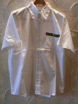☆SALE 50%OFF☆ INTERFACE/TAPING SHIRT  WHITExGRNxRED
