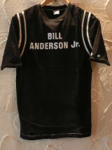 ☆SALE 50%OFF☆ BURDEN/BILL FOOTBALL 五分丈TEE  BLACK