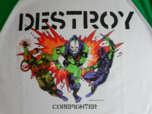 他の写真2: COREFIGHTER/BATTING T DESTROY WHITExGREEN