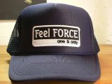 Feel FORCE/ONE&ONLY MESH CAP  NAVYxWHITE